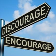 dis-encourage